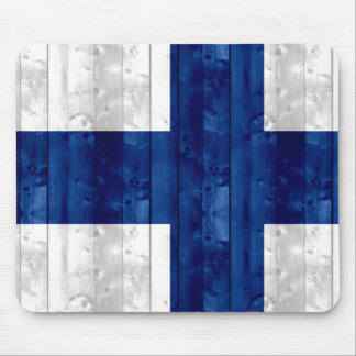 Wooden Finnish Flag Mouse Pad