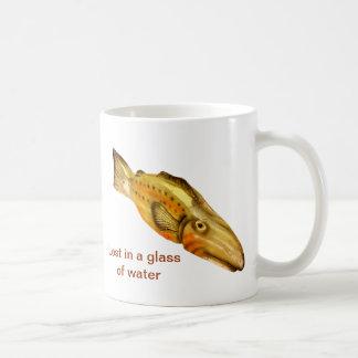 wooden fish coffee mug