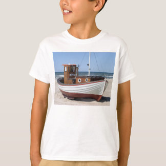 Wooden fishing boat on the beach. T-Shirt