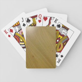 Wooden Floor Playing Cards