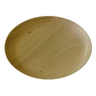 Wooden Floor Porcelain Serving Platter