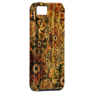 wooden floral abstract vector art iPhone SE/5/5s case
