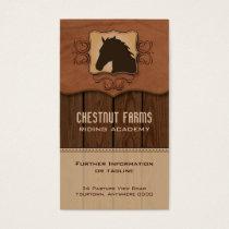 Wooden Flourish Horse Business Card