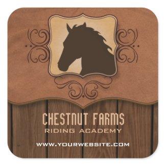 Wooden Flourish Horse Promotion Sticker sticker