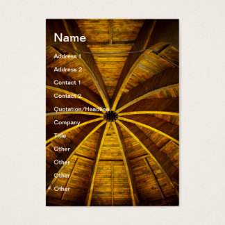 Wooden flower ceiling business card
