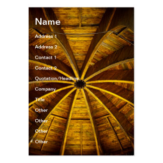 Wooden flower ceiling large business cards (Pack of 100)