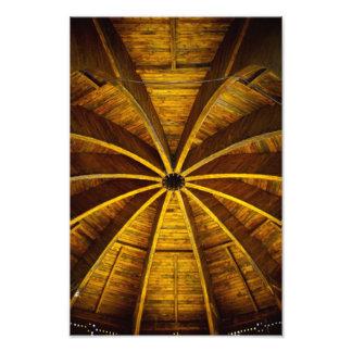 Wooden flower ceiling photo art