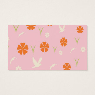 Wooden flower opening 耶 business card