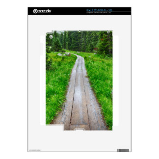 Wooden Forest Path Decal For iPad 2