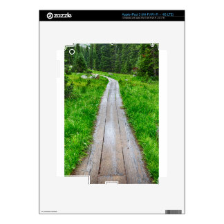 Wooden Forest Path Skins For iPad 3