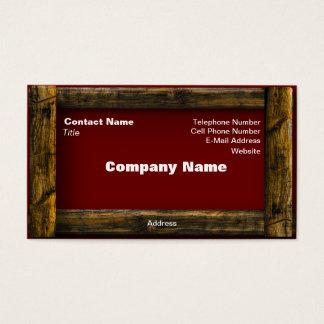 Wooden Frame Business Card