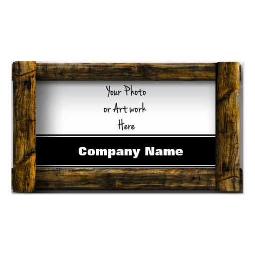 Wooden frame business card zazzle for Business card picture frame