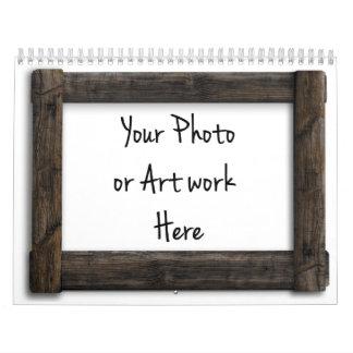 """""""Wooden Frame"""" Template Calendar"""