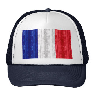 Wooden French Flag Hat