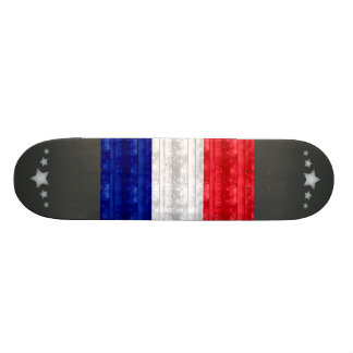 Wooden French Flag Skateboard Deck
