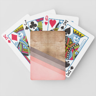 Wooden geometric art bicycle playing cards