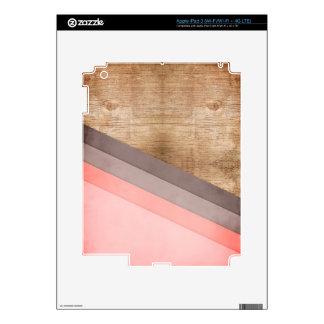 Wooden geometric art iPad 3 skins