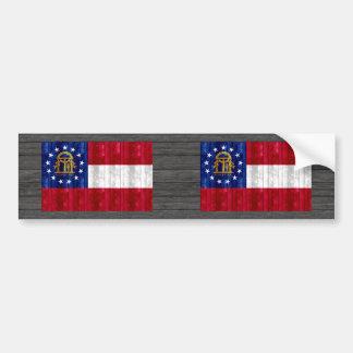 Wooden Georgian Flag Bumper Sticker
