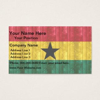 Wooden Ghanaian Flag Business Card