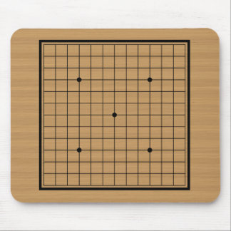 Wooden Go Board 13x13 Bordered Mousepads