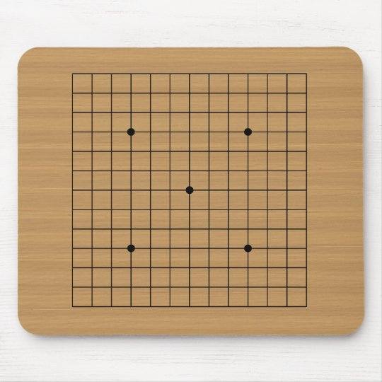 Wooden Go Board 13x13 Mouse Pad