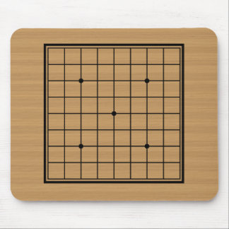 Wooden Go Board 9x9 Bordered Mouse Pad