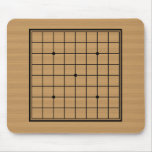Wooden Go Board 9x9 Bordered Mousepads