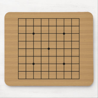 Wooden Go Board 9x9 Mouse Pad