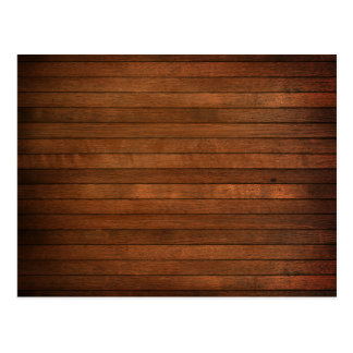 Wooden Grain Stained Style Postcard