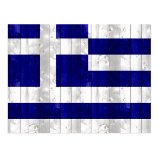 Wooden Greek Flag Postcard