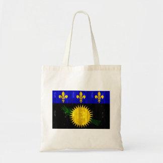Wooden Guadeloupean Flag Bag