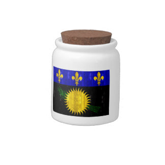 Wooden Guadeloupean Flag Candy Jars