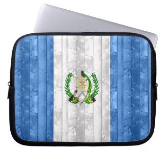 Wooden Guatemalan Flag Laptop Sleeves