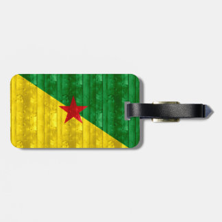 Wooden Guianese Flag Tag For Luggage
