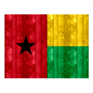 Wooden Guinean Flag Postcard