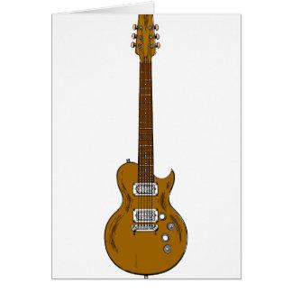 Wooden Guitar Card