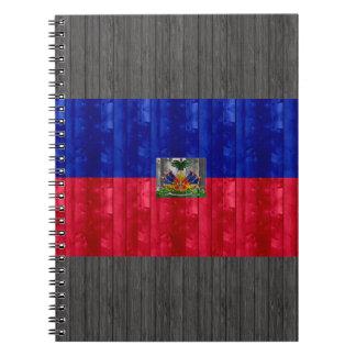 Wooden Haitian Flag Notebook