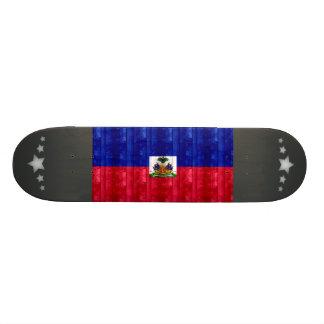 Wooden Haitian Flag Skateboard Decks