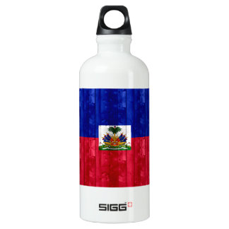 Wooden Haitian Flag Water Bottle