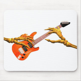 Wooden hands play electric guitar gift design mouse pad