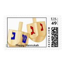 Wooden Hanukkah Dreidels Postage