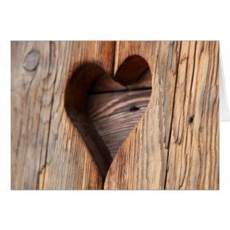 Wooden Heart Card