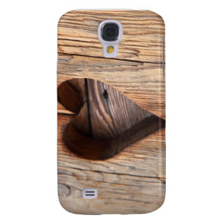Wooden Heart Galaxy S4 Cover