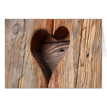 Wooden Heart Greetings Card