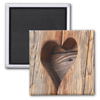 Wooden Heart Fridge Magnets