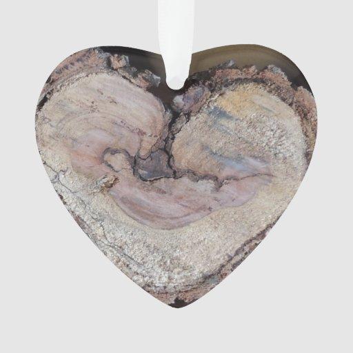 Wooden heart ornament zazzle