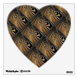 Wooden Heart Walldecal Wall Sticker