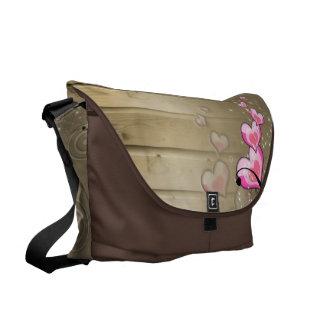 Wooden Hearts Messenger Bag