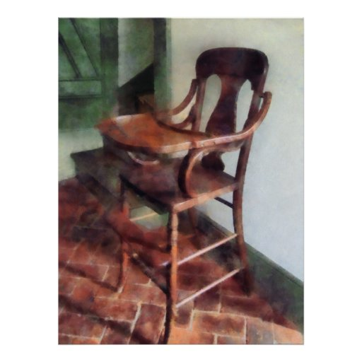 Wooden High Chair Poster