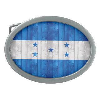 Wooden Honduran Flag Belt Buckle